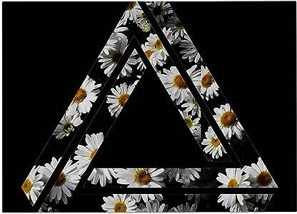 "KESS InHouse TA2004ADM02 别名""不可能的雏菊链""黑色黄色狗狗垫子,60.96 cm x 38.10 cm"