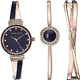 Anne Klein 女士施华洛世奇水晶装饰手表手镯套装