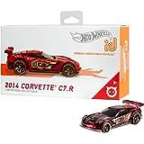 Hot Wheels iD FXB04 - 压铸汽车 1:64 Corvette C7R 带 NFC 芯片,用于在Hot…