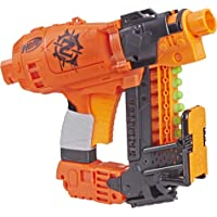 NERF 热火 Nailbiter Nerf僵尸软弹枪打击玩具– 8枚正式的僵尸打击精英飞镖,8箭索引夹–Survival System–适合儿童,青少年,成人