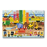 Melissa & Doug 自然玩耍大型地板拼图:大建筑师(60 片,女孩和男孩的*礼物 - 适合 5、6、7 和 8 岁儿童)