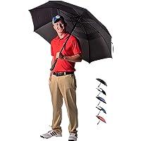 Athletico 62/68 英寸自动打开高尔夫伞 - 超大号双伞伞防风防水 - 采用人体工程学橡胶手柄