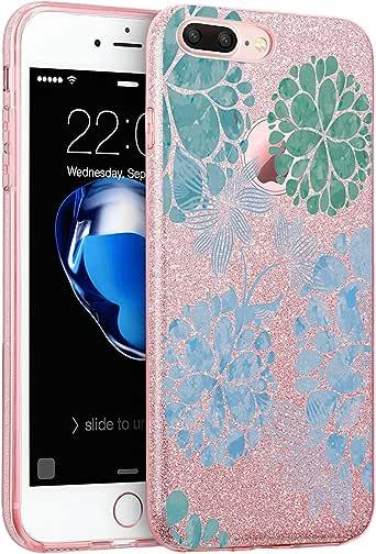 iPhone 7/8 iPhone 7/8 plus 手机壳 TPU 奢华闪光闪光闪光保护软缓冲硅胶减震