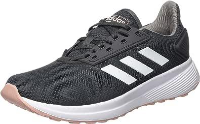 adidas 阿迪达斯 女式 Duramo 9 运动鞋,灰色/鞋类,白色/粉色,41 1/3 EU