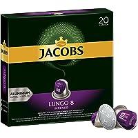 Jacobs 咖啡胶囊 浓烈稀饮意式特浓(Lungo Intenso),浓度8/12,200粒兼容Nespresso,10 x 20杯
