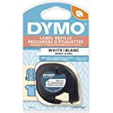 "DYMO Lt Iron-On Fabric Labels, 1/2"" x 6.5' Roll, Black Print on White, Iron On (18771)"