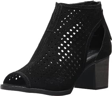 Dirty Laundry 中国洗衣女士 Tessa 及踝靴 Black Split Suede 7 M US