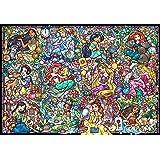 拼图 1000片 Disney Princess 迪士尼公主系列 花窗玻璃 [Stained Art] 51.2×73.7厘米