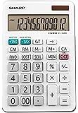 Sharp Electronics EL-334TB 双功率 10 位数计算器,带支架 EL-334WB 白色