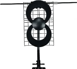 antennas Direct c2-v-cjm clearstream 2-v 长距离 UHF / VHF 室内 / 户外 DTV 天线,1.8英寸支架