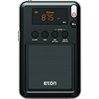 Eton 伊顿 Mini Compact AM / FM /短波收音机,黑色