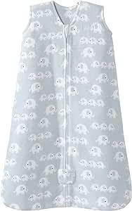 HALO 睡袋可穿戴婴儿毛毯,摇粒绒 3 Elephants Blue X大码