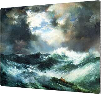 """ArtWall 1tmo001a1824a Thomas tMoran's """"Moonlit Shipwreck At Sea 1901"""" Aluminum Print, 18"""" x 24"""""""