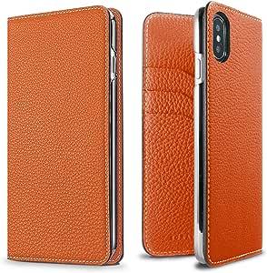 BONAVENTURA 日记皮革钱包手机壳BODTX-OR iPhone Xs/X 橙色