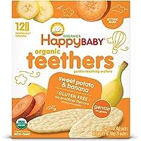 Happy Baby 禧贝 温柔牙胶磨牙威化饼干,香蕉地瓜,无麸质,每盒12颗,1.7盎司,48克,6包(包装可能有所不同)