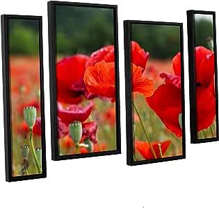 "ArtWall Lindsey Janich '3986' 4 Piece Floater Framed Canvas Artwork, 36 by 54"""