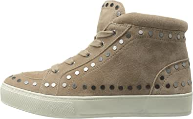 Marc Fisher Womens Sierre Hight Top Lace Up Fashion Sneakers, Tan, Size 5.0 US