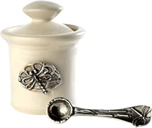 Crosby & Taylor Stoneware 盐壶,小号 Whipping Cream ctsq15