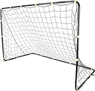 Sport Squad Steel 比赛级足球球门网 - 6 英尺 x 4 英尺训练足球球门采用耐用金属设计 - 易于组装,持久设计 - 非常适合儿童和成人