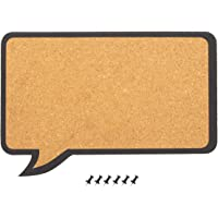 软木公告板 - 装饰性言语气泡自然软木板 - 包括 6 个推销 - 非常适合用于固定夹趾和提示,44.45 x 29.21 x 0.76 厘米