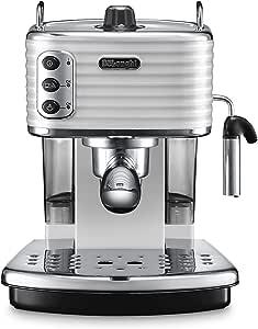 DeLonghi 德龙 ECZ-990 351.W Scultura 意式浓缩咖啡机 白色 29x35x35