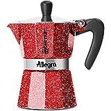 Bialetti 比乐蒂 Espresso咖啡煮壶 铝制 0005612,3杯容量,20cm,红色