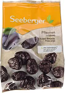 Seeberger Prunes Pitted 500 g (Pack of 8)