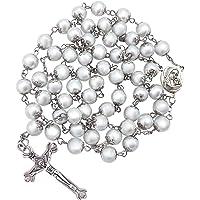 Nazareth Store 淡水珍珠念珠项链 古董天主教宗教念珠套装