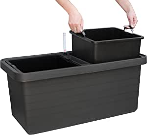 Plastia Berberis Duo 1909728024 浇水箱 78 x 39 x 35 厘米 无*煤色