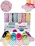 宝宝袜子女童带防滑背面防滑,1–3岁女孩来自 Tiny 船长 Pink, Blue, Green, Yellow, Purple, White 均码