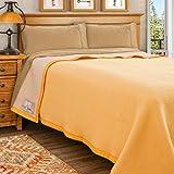 Poyet Motte Aubisque 500GSM 加厚 * 羊毛毯 Maise/Natural King Size COMIN18JU064216