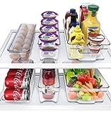 Sorbus 冰箱收纳盒 可堆叠的食品储藏容器 不含BPA的抽屉收纳盒,用于冰箱冷藏和食品储藏室