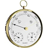 TFA Dostmann 20.3006.32 Baro-Thermo 高压温湿度计,黄铜环外壳