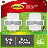 Command 17007-HW2ES Broom & Mop Gripper Set with 2 Grippers…