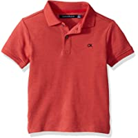 Calvin Klein 男童纯色珠地布 Polo 衫 浅红色 Large (14/16)