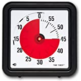 Time Timer计时器,8英寸 ,教室/会议时钟,60分钟视觉计时器