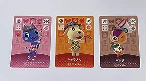 amiibo 动物交叉卡片 3张装 日本进口任天堂 Switch- Switch Lite- -Wii U-3DS