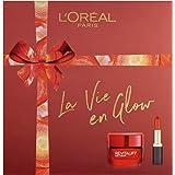 L'Oreal Paris 巴黎欧莱雅 La Vie En 焕发保湿霜和唇膏化妆护肤套装(女用)