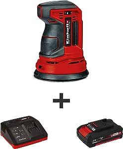 Einhell TE-RS 18 伏 Power X-Change 无线随机轨道磨光机,套件(带 2.0Ah电池+快速充电器)