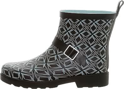 CAPELLI NEW YORK 女式短款雨鞋 Black Grey 9 B(M) US