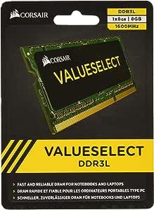 corsair cmso8gx3m1c1600c11 8gb(1x8gb) 1600mhz pc3-12800 204 针 ddr3l sodimm 笔记本电脑内存 1.35v