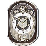 SEIKO CLOCK (セイコークロック) 掛け時計 電波 アナログ からくり 40曲メロディ 回転飾り 薄金色パール…