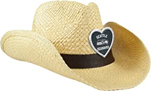 NFL Seattle Seahawks Women's Crystal Cowgirl Hat, Natural