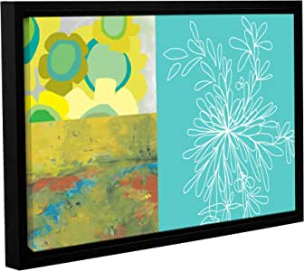 """ArtWall Jan Weiss Quote Collage I Gallery-Wrapped Floater-Framed Canvas Artwork, 12 by 18"""""""