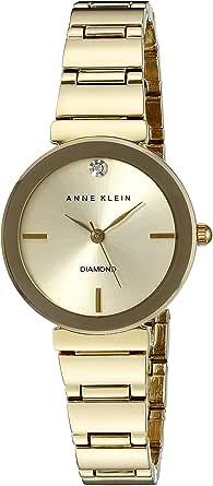 ANNE KLEIN 女式钻石表盘 goldtone 抛光手链手表