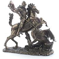 11.38 英寸圣乔治龙头冷铸青铜雕像