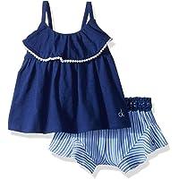 Calvin Klein 女婴荷叶边短裤套装