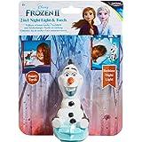 Disney 冰雪奇缘 279FZO Olaf 儿童床头夜灯和手电筒 Buddy 来自 GoGlow,白色