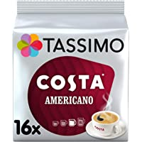 Tassimo Costa Americano 咖啡豆荚(5个,共80个豆荚,80份),144克(16 x 9 克)