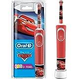 Oral-B 欧乐B 儿童电动牙刷 尼汽车总动员主题,带迪士尼贴纸,适用于3岁以上的儿童,红色